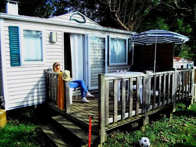 Photo for Camping Harrobia *** - Mobil Home 2 Rooms 2/3 People
