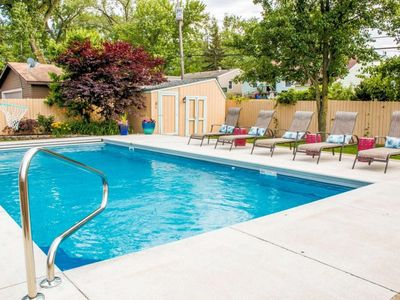 Photo for NEW BUFFALO HOME WITH PRIVATE HEATED POOL!