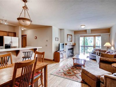 Photo for Mountain view condo with a shared pool and hot tub - shuttle to lifts