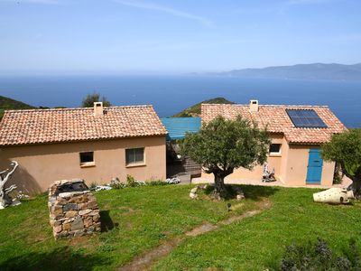 Photo for Gîte Pettirossu certified ecological and 3 ears, panoramic sea and mountain views
