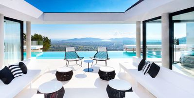 Photo for Fantasy- 6 bdrms, hilltop location overlooking the old town of Ibiza, pool