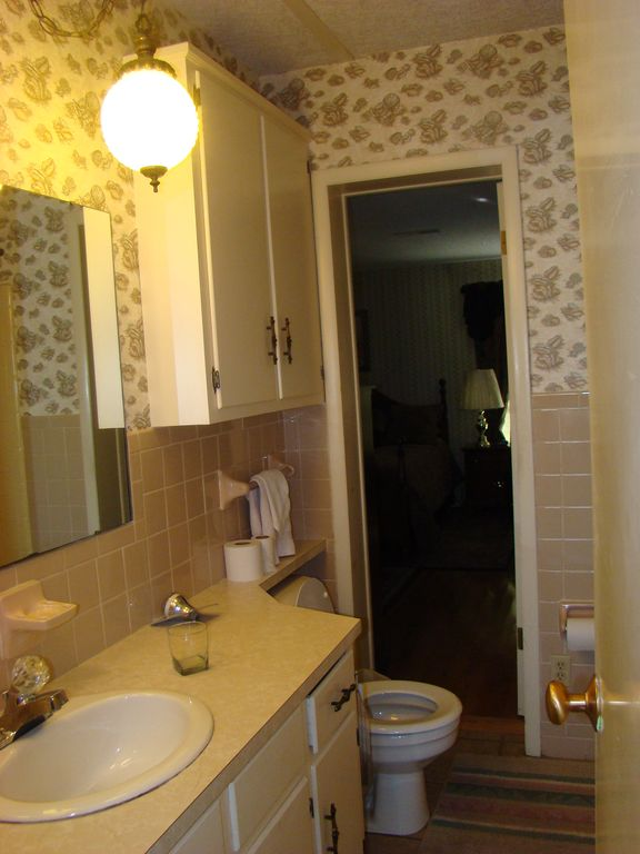 MASTER BATH WITH SHOWER AND TUB UPSTAIRS.