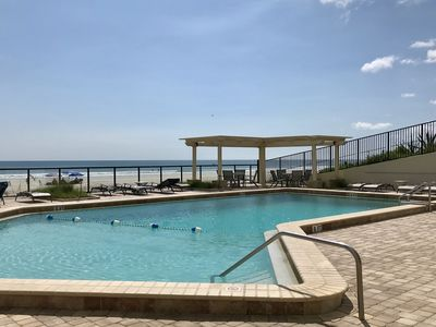 Photo for Direct oceanfront condo w/ shared, outdoor pool, hot tub, & fitness room