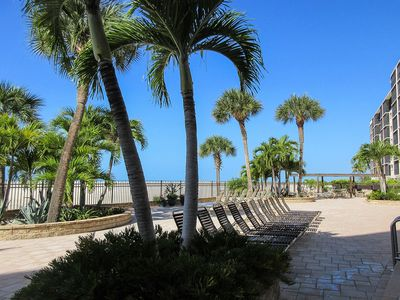 Photo for Tropical Gulf Front 2B/2B Carlos Pointe Condo 133, White Sandy Beach, Heated Pool