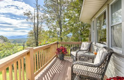Have a seat on the deck and enjoy the endless view.