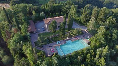 Photo for Beautiful 8 bedrooms Villa with private pool and a/c near Montaione