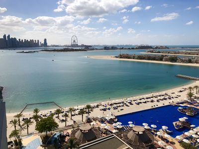 Photo for Luxurious 1 bedroom at Dubai's Palm with stunning Sea and Marina views