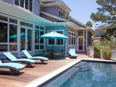Photo for POOL 5 BR LUXURY HOME---3KINGS 3QUEENS -2 Living Rooms