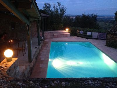Photo for Charming Farmhouse In Sloping Rhone Valley Vineyard. Stunning View, Terrace Pool