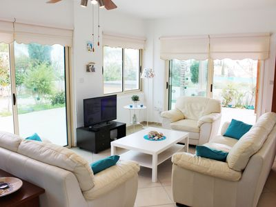 Photo for Amazing 4 bed villa next to the beach in Protaras