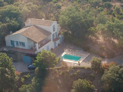 Photo for Beautiful and large family villa with pool and stunning views