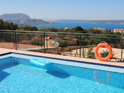 Photo for Lovely villa with 40m2 pool with Roman steps and panoramic sea views