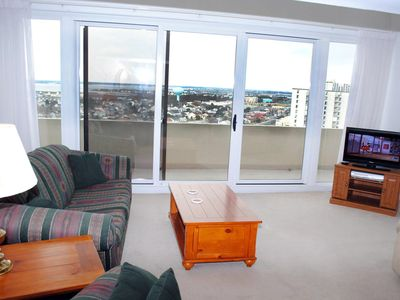 Photo for Stylish 3 Bedroom 2-Floor Oceanfront Penthouse Condo with Outdoor Pool and Gorgeous View in Great Midtown Location!
