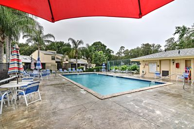 Enjoy access to the community pool, located just across the street.