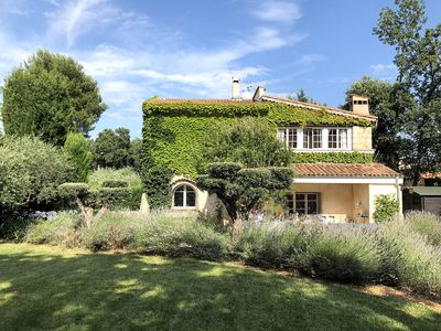 Photo for Beautiful newly renovated  family Villa in Valbonne. Provencal gardens & pool.
