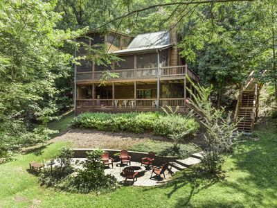Photo for Fisherman's paradise on stocked catch & release trout stream.  Luxury cabin