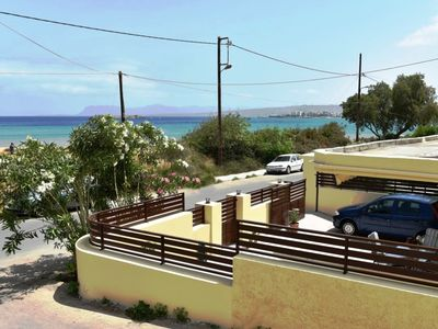 Photo for Seafront house ★ Golden Beach at 30m★ close to Chania, walking distance to shops
