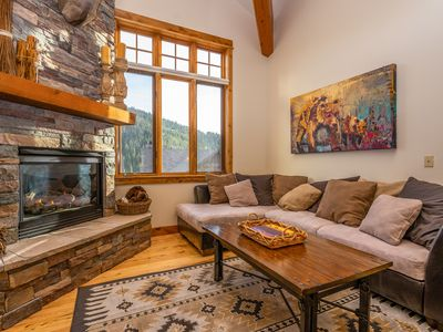 Photo for NEW LISTING! Big Sky condo w/private hot tub, fireplace & 360 degree views