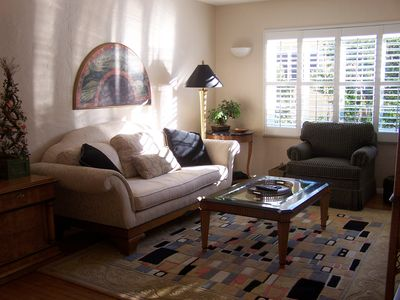 Living Room with Flat screen t.v. with Bose sound system.