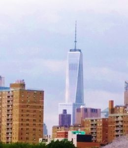 View of World Trade Center from private roof terrace