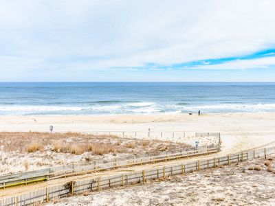 Photo for Beautiful 3 bedroom oceanfront condo with free WiFi, beautiful showers, and an outdoor pool located midtown and just steps to the beach!