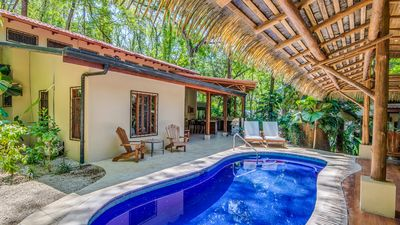 Photo for Family jungle yoga home w/ yoga deck, pool steps from Bodhi Tree and beach!