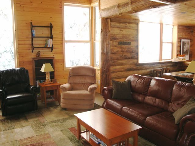 Morton is a gorgeous cottage with lots of wood !  4 bdrms, 3 bath, sleeps 8.