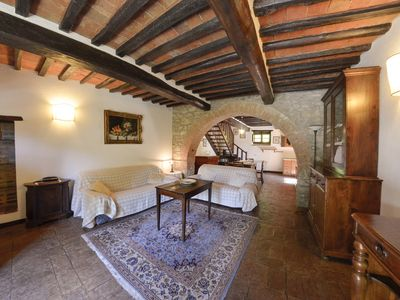 Photo for Lovely apartment sleep 4, pool and near Cortona