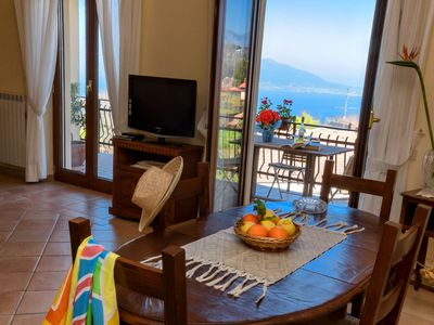 Photo for Apartment in the center, overlooking the Gulf of Naples and Vesuvius, parking, wi-fi