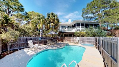 """Photo for Ready Now - No Storm Issues! FREE BEACH GEAR! Plantation, Pool, Hot Tub, Elevator, Fireplace, 3BR/3BA """"Shooting Star"""""""