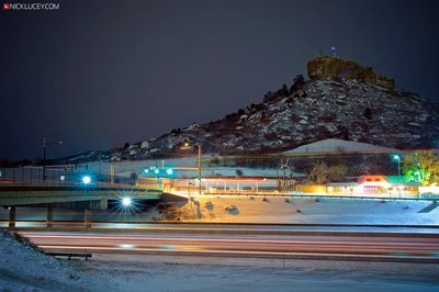 view of castle rock from I-25