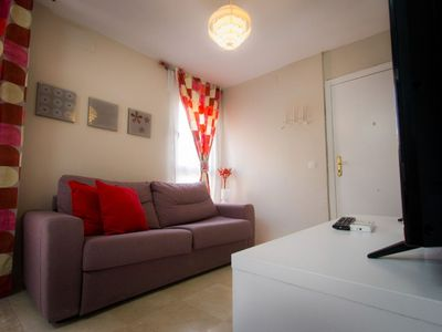Photo for Spacious Carmen Duplex apartment in Centro with WiFi, air conditioning, private terrace & lift.