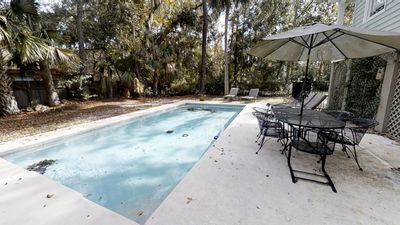 Photo for 4 BR/3.5 BA 1 block from the Beach! Private Pool, BBQ Grill!