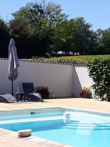 Photo for Traditional newly renovated French  two bedroomed stone gite.