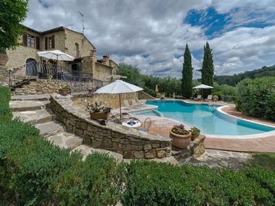 Photo for Villa Sornano, Chianti villa with excellent views near Poggibonsi