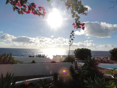Photo for Naturist - Finca del Mar, first location on the sea with pool, Lanzarote, Charco del Palo