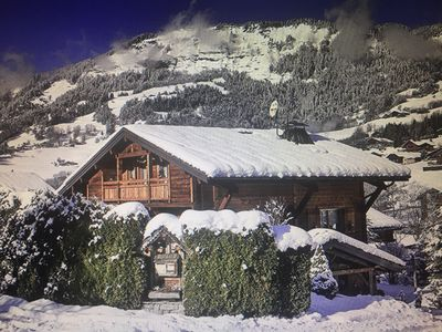 Photo for Beautiful Chalet: Ski In - Ski out near Megeve