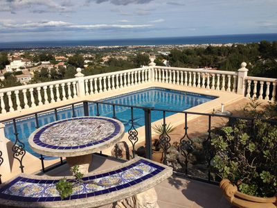 Photo for Villa overlooking the sea, 10 min from the beaches, garden, terrace, private pool