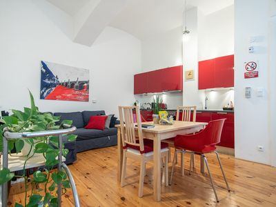 Photo for Eclectic and design duplex with terrace in the heart of Prague by easyBNB