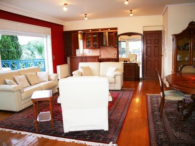 "Photo for Athens Riviera Beach Apt.|Athens|Beach|Sea View|Parking| ""Best of Both Worlds""