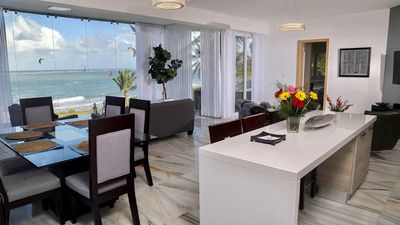 "Photo for ""HIGH LUXURY- MODER "" - BEACHFRONT 3BR/3.5 BA STYLISH CONDO"