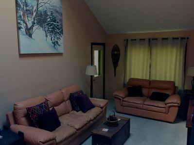 Living room with mountain decor