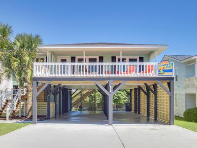 Photo for Summer Fun, Luxury Rental, Steps from Beach in Cherry Grove with Ocean Views