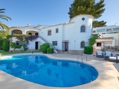 Photo for Holiday house for 8 people with sea views located on the heights of Javea