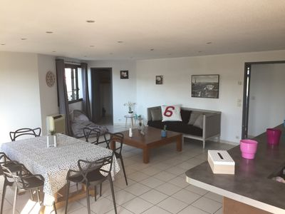 Photo for Loft large terrace, sleeps 6, activity zone, terrace, private parking