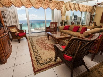 Photo for Destin condo with gulf and pool views, furnished balcony & beach access!