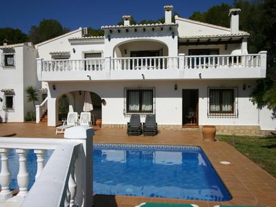 Photo for Lovely and classic villa in Moraira, on the Costa Blanca, Spain  with private pool for 6 persons