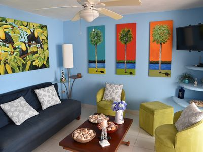 Photo for Beachfront Flamingos Condo With Pool - WIFI (ask)
