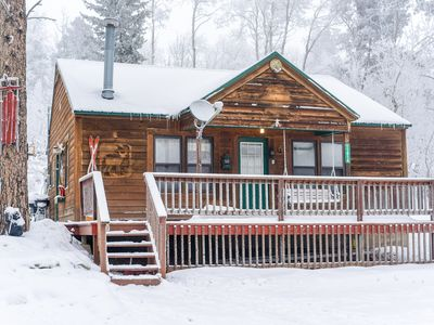 Photo for Cozy 2BR Log Cabin Surrounded by Pine Trees, Close to Terry Peak and Deadwood