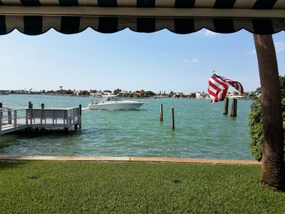 Photo for Waterfront Ground Floor Condo with Private Patio, Pool, Fishing & Mooring Docks!